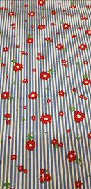 Сорочечная хлопок стрейч Цветы рис №3