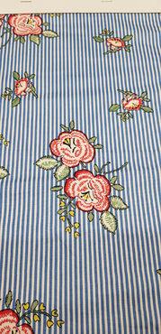Сорочечная хлопок стрейч Цветы рис №4