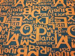 Оранжевые буквы на черном