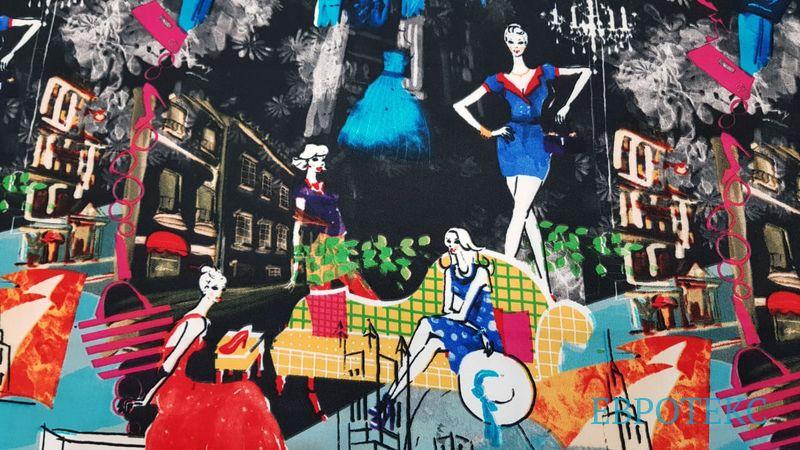 Креп плательный Городские модницы