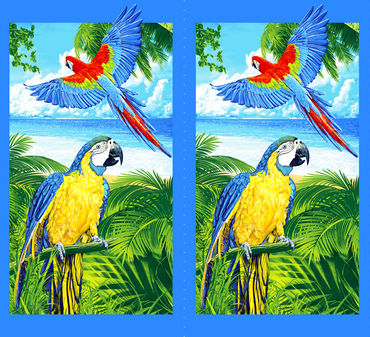 Попугаи Вафельное полотно