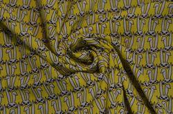 Сорочка набивная зайцы на желтом
