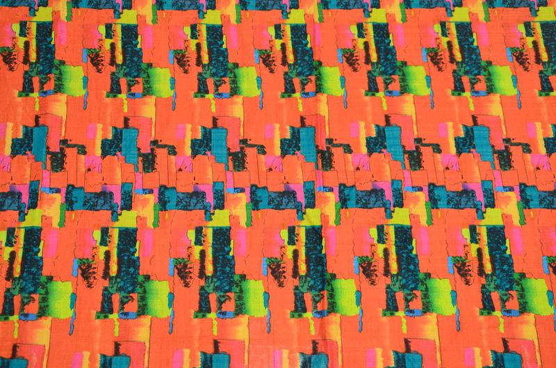 Сорочка набивная абстракция на оранжевом