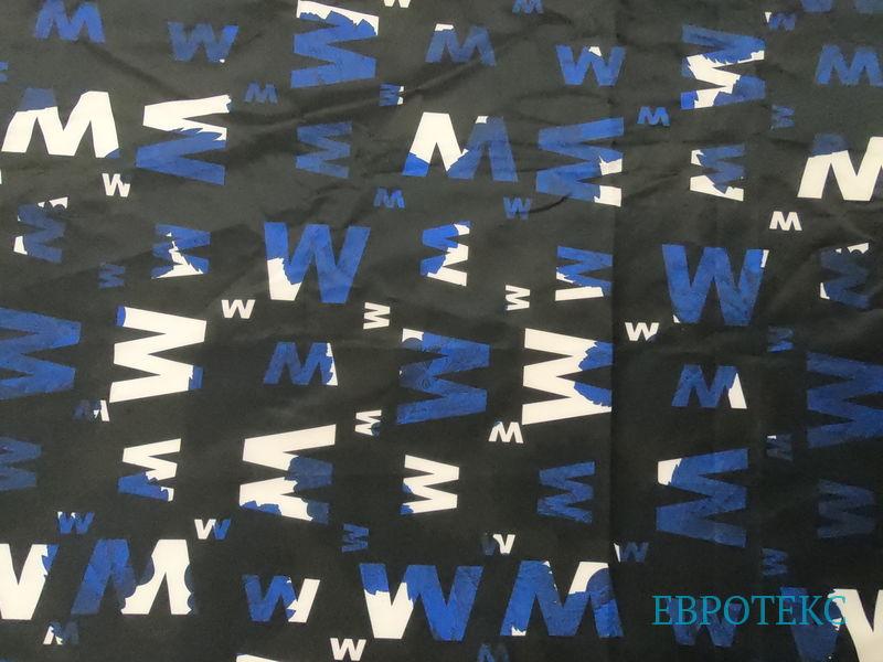Буквы М и W на черном